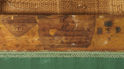 Paire de tabourets en X - Patrimoine Charles-André COLONNA WALEWSKI, en ligne directe de Napoléon