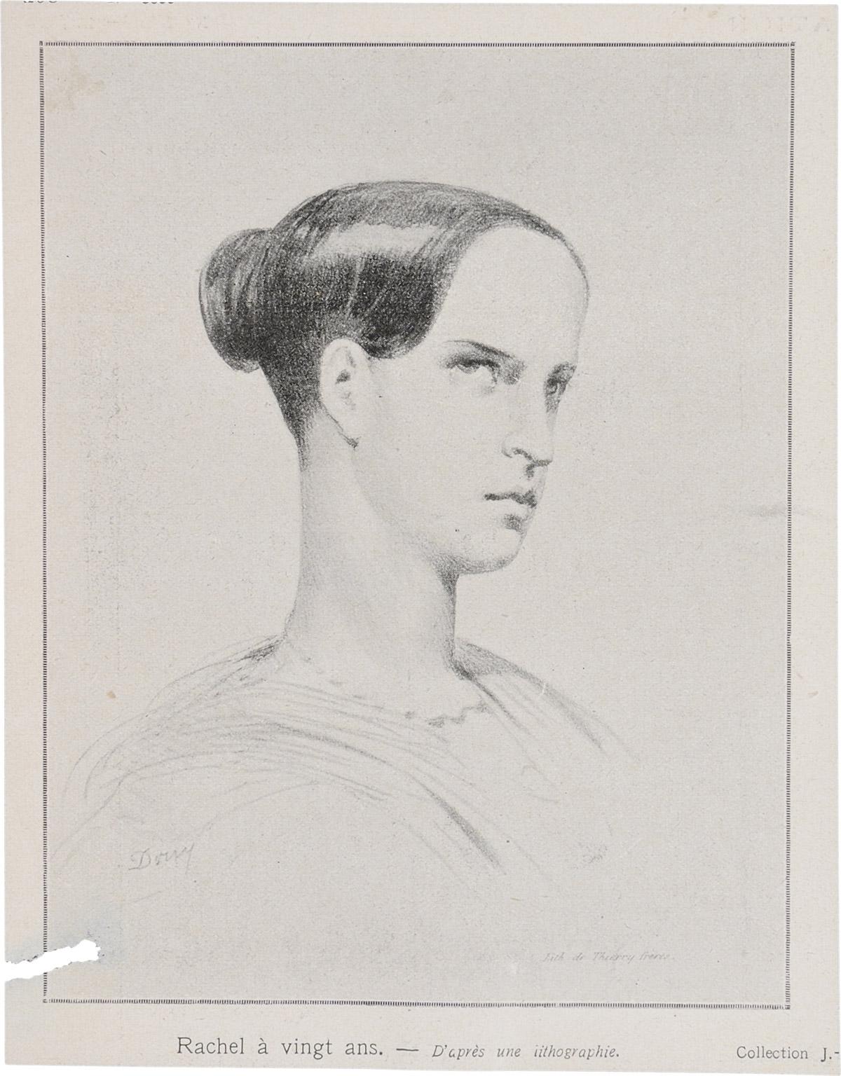 Lithographie : Rachel à vingt ans - Patrimoine Charles-André COLONNA WALEWSKI, en ligne directe de Napoléon