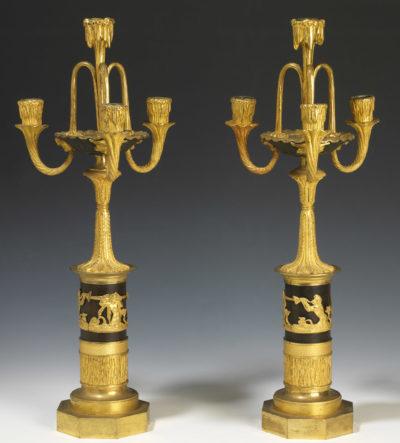 Paire de candélabres - Patrimoine Charles-André COLONNA WALEWSKI, en ligne directe de Napoléon