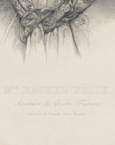 Rachel dans le rôle de Roxane de Bajazet, lithographie de Grevedon - Patrimoine Charles-André COLONNA WALEWSKI, en ligne directe de Napoléon
