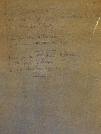 Lithographie : Le comte Colonna Walewski - Patrimoine Charles-André COLONNA WALEWSKI, en ligne directe de Napoléon