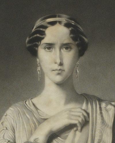 Lithographie : Rachel dans le rôle de Camille, par Dubufe - Patrimoine Charles-André COLONNA WALEWSKI, en ligne directe de Napoléon