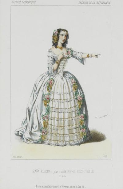 Deux Lithographies : Rachel dans le rôle d'Adrienne Lecouvreur - Patrimoine Charles-André COLONNA WALEWSKI, en ligne directe de Napoléon