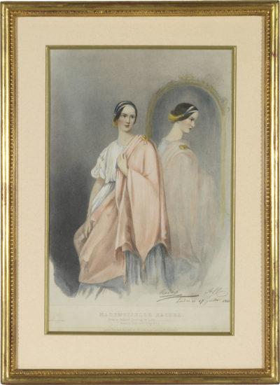 Lithographie de Rachel - Patrimoine Charles-André COLONNA WALEWSKI, en ligne directe de Napoléon