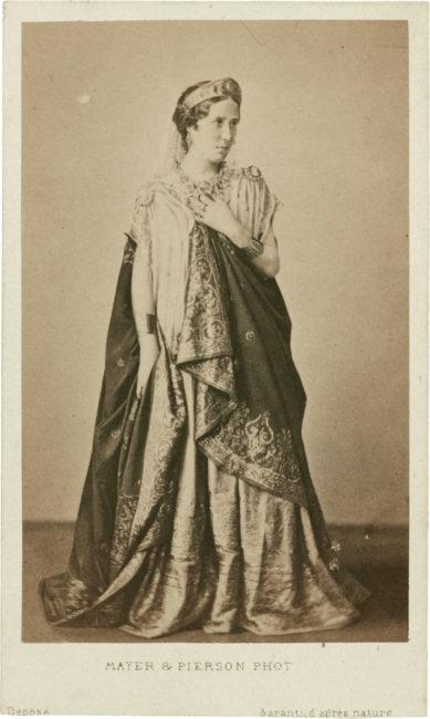 Rare photographie de Rachel et lithographie dédicacée - Patrimoine Charles-André COLONNA WALEWSKI, en ligne directe de Napoléon