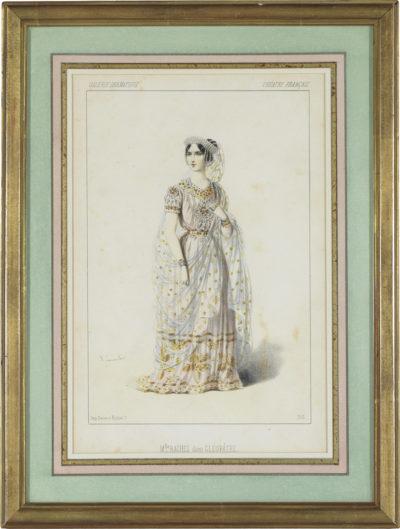 Rachel dans le rôle de Cléopâtre, par Lacauchie - Patrimoine Charles-André COLONNA WALEWSKI, en ligne directe de Napoléon