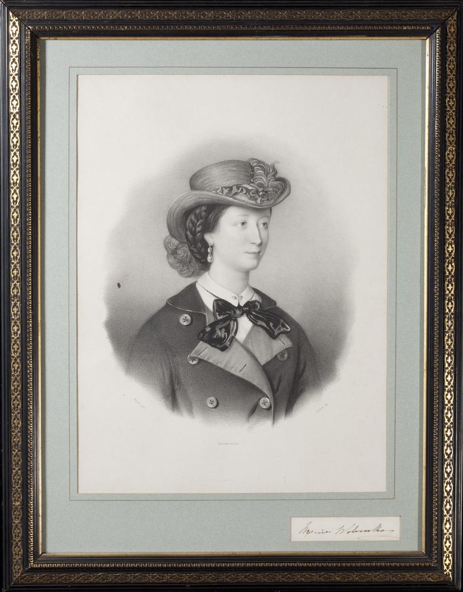 Lithographie : Portrait de la comtesse Walewska - Patrimoine Charles-André COLONNA WALEWSKI, en ligne directe de Napoléon
