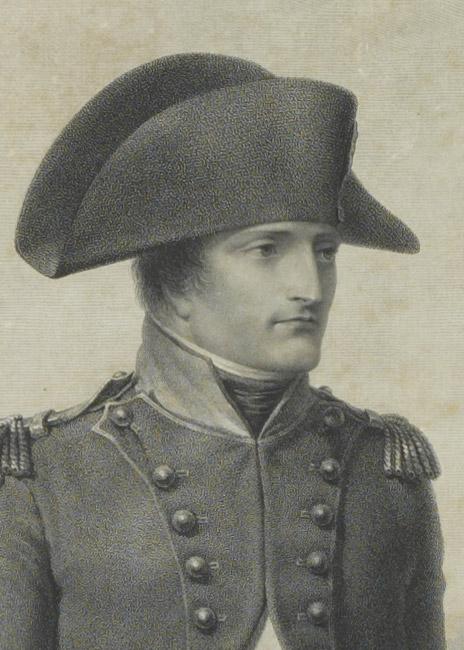 Gravure : Napoléon à Malmaison d'après Isabey - Patrimoine Charles-André COLONNA WALEWSKI, en ligne directe de Napoléon