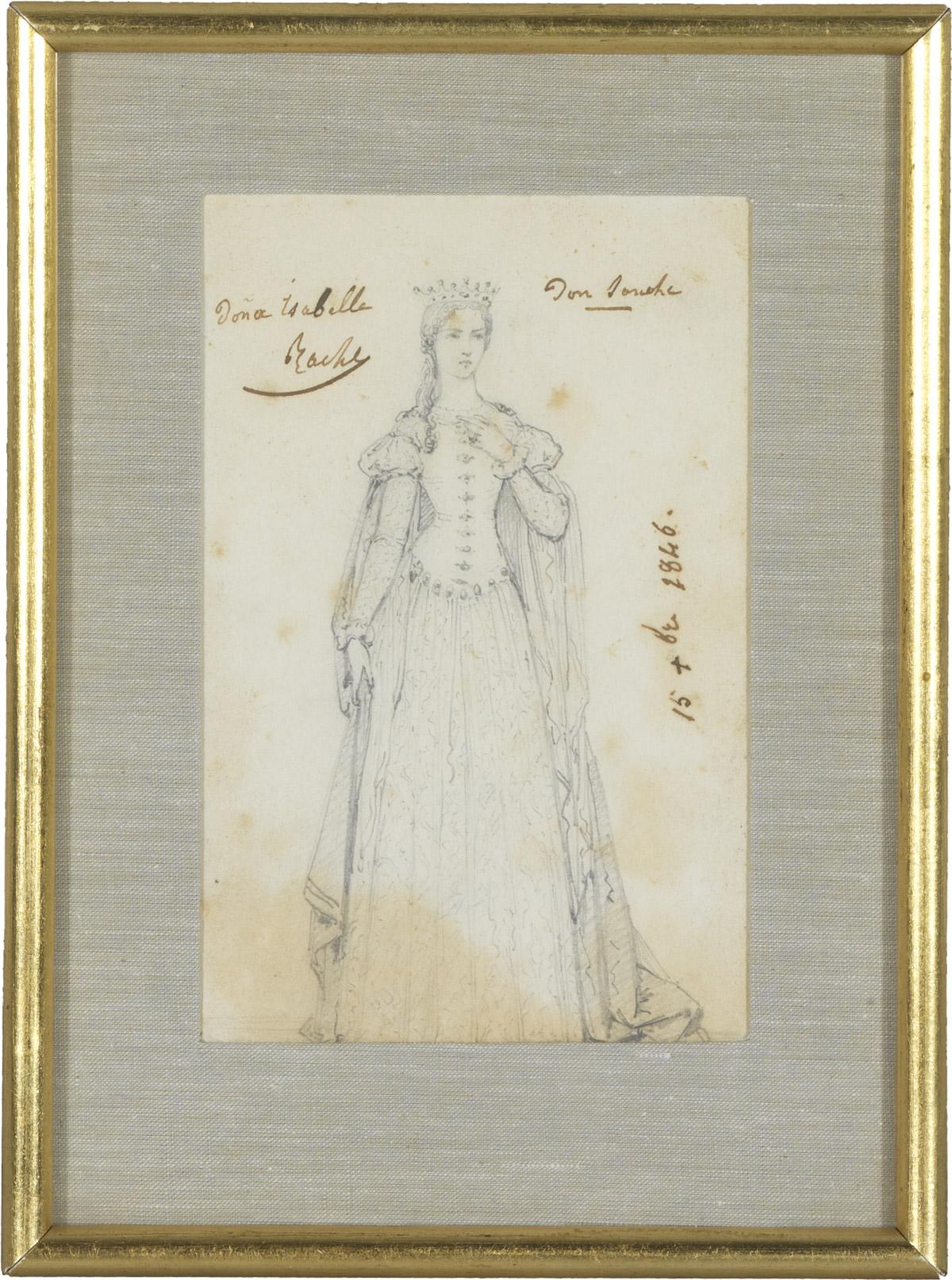 Deux dessins de Rachel par Geffroy - Patrimoine Charles-André COLONNA WALEWSKI, en ligne directe de Napoléon