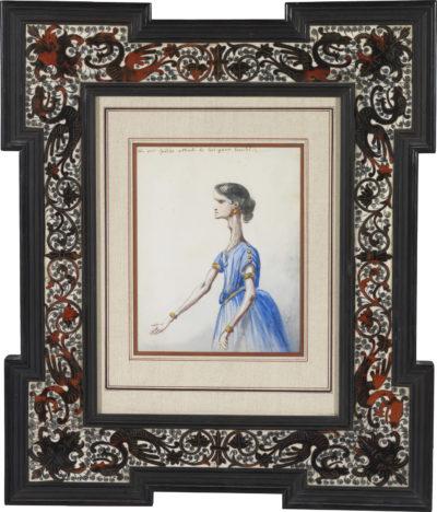 Caricature de Rachel - Patrimoine Charles-André COLONNA WALEWSKI, en ligne directe de Napoléon