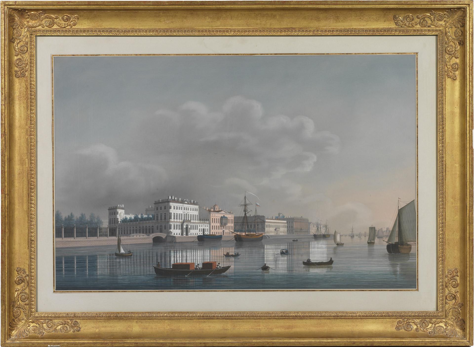 Vue du Palais d'Hiver à St-Pétersbourg - Patrimoine Charles-André COLONNA WALEWSKI, en ligne directe de Napoléon