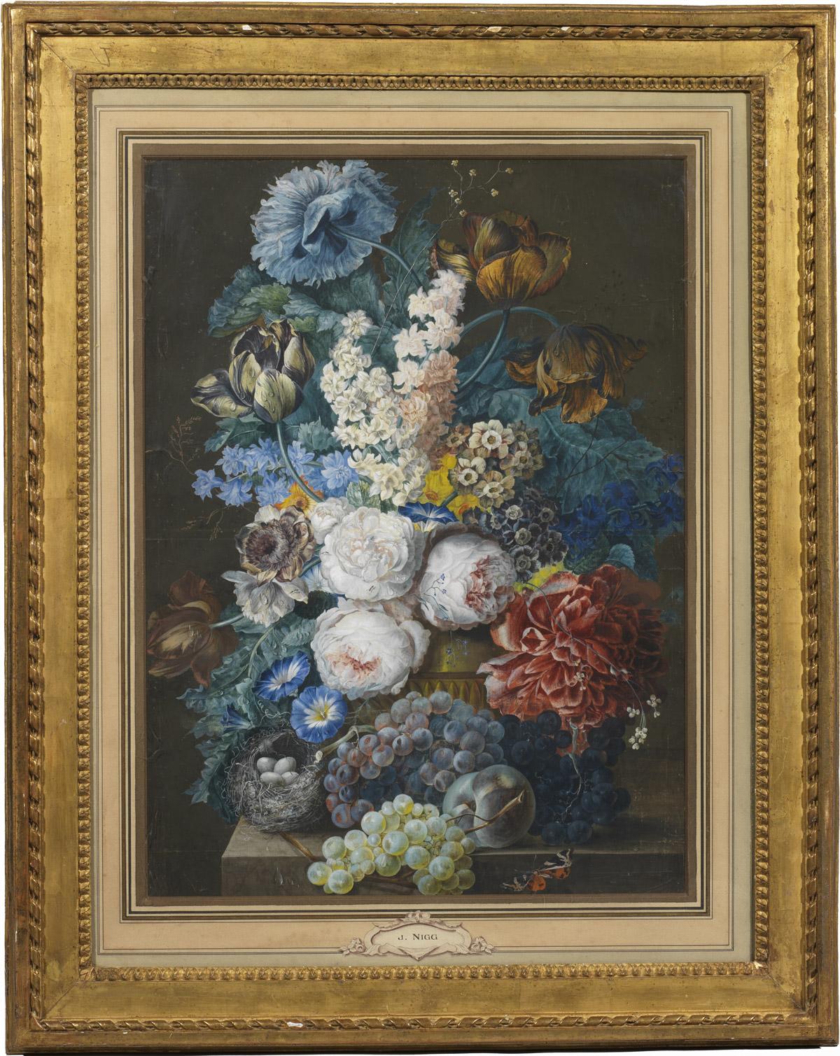 Paire de grandes gouaches par Joseph Nigg - Patrimoine Charles-André COLONNA WALEWSKI, en ligne directe de Napoléon