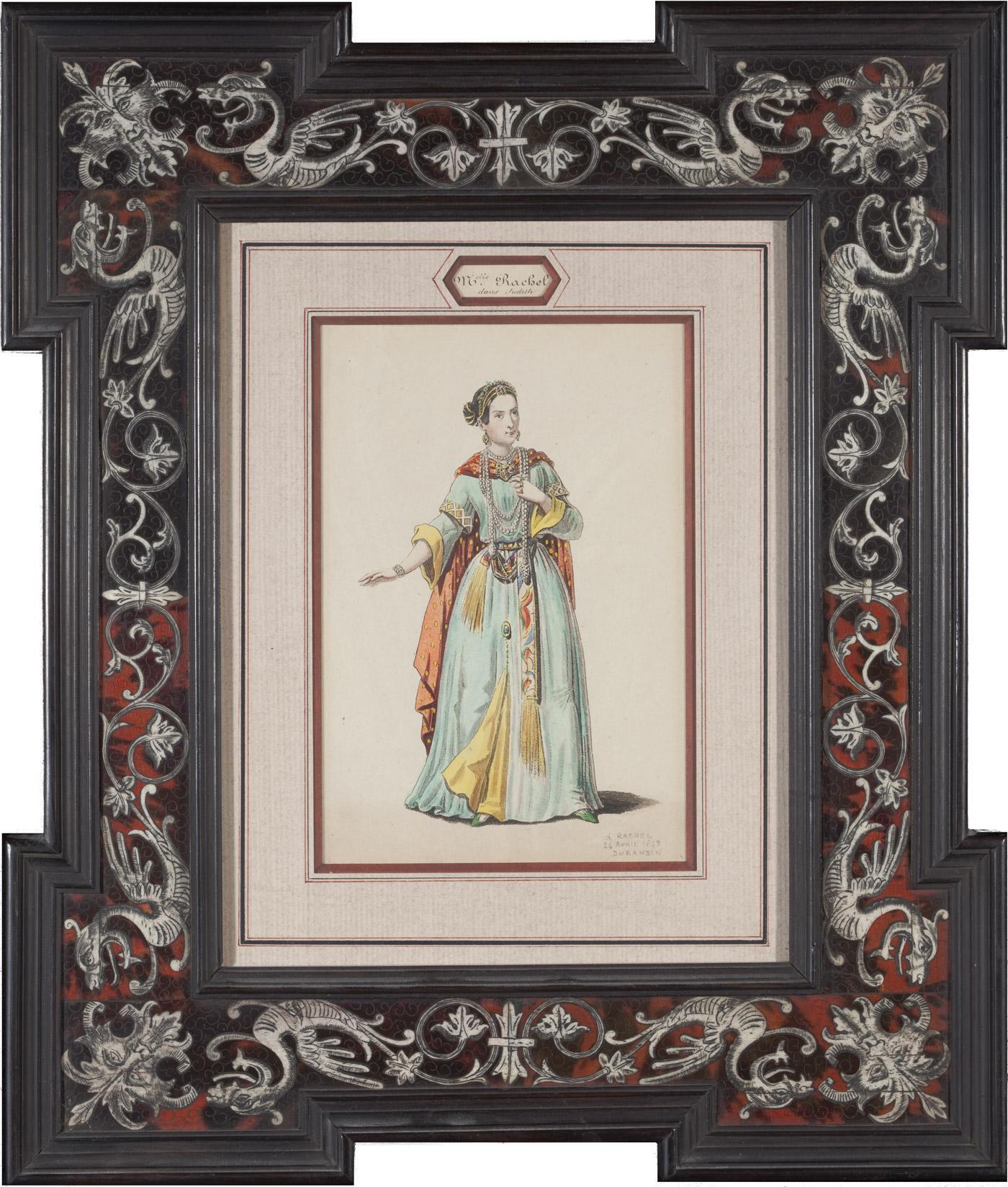 Aquarelle : Rachel dans le rôle de Judith par Durandin - Patrimoine Charles-André COLONNA WALEWSKI, en ligne directe de Napoléon