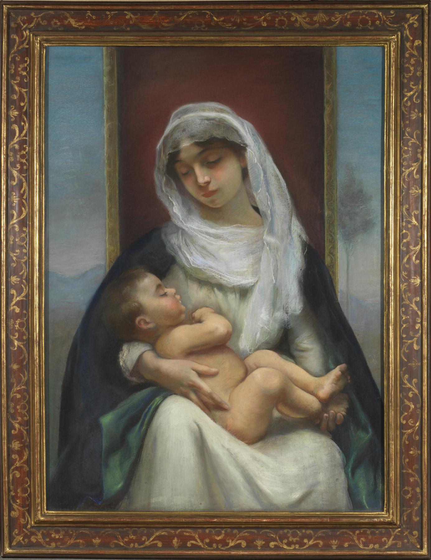 Mère et enfant par la comtesse Marie Walewska née Molinos - Patrimoine Charles-André COLONNA WALEWSKI, en ligne directe de Napoléon
