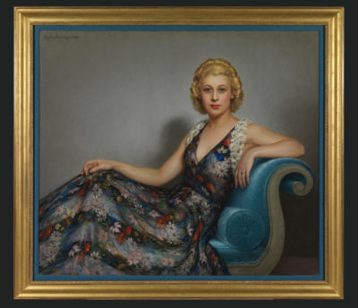Portrait de la comtesse Roger Walewski par Lavrillier - Patrimoine Charles-André COLONNA WALEWSKI, en ligne directe de Napoléon