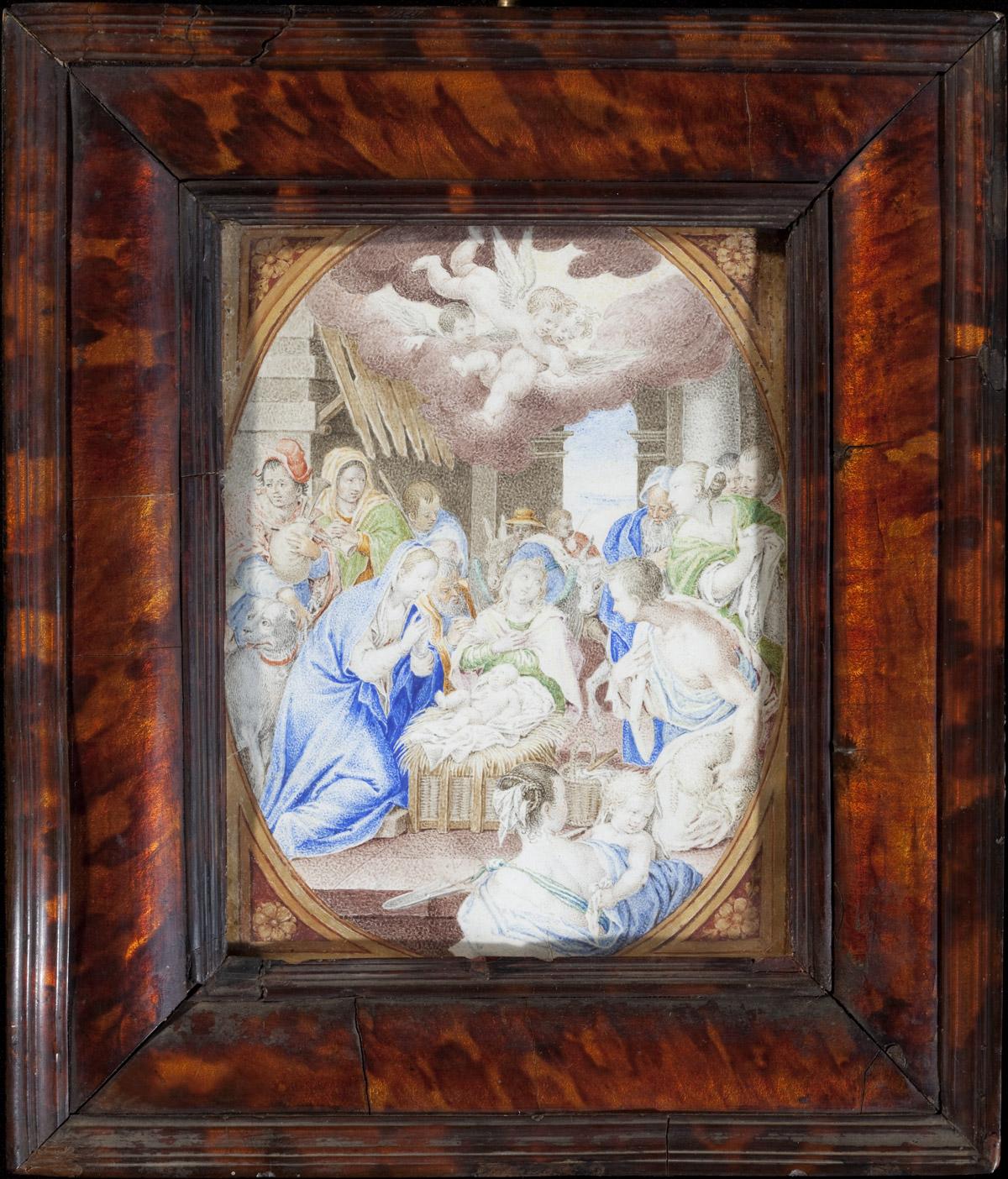 Miniature : Scène de la nativité - Patrimoine Charles-André COLONNA WALEWSKI, en ligne directe de Napoléon