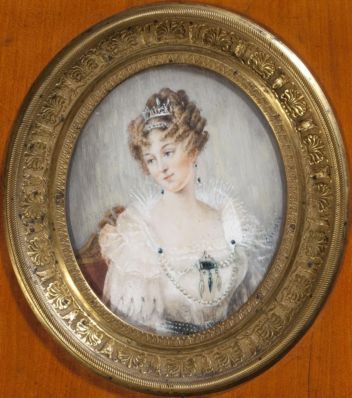 La comtesse Mendana de Neyra, miniature par Guérin - Patrimoine Charles-André COLONNA WALEWSKI, en ligne directe de Napoléon