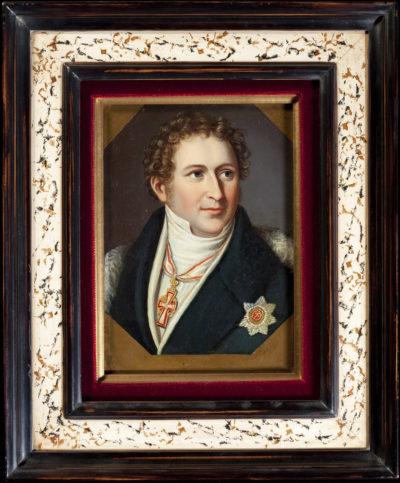 Deux portraits sur cuivre - Patrimoine Charles-André COLONNA WALEWSKI, en ligne directe de Napoléon