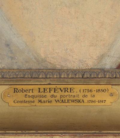 Huile sur toile : Portrait de Marie Walewska par Lefèvre - Patrimoine Charles-André COLONNA WALEWSKI, en ligne directe de Napoléon
