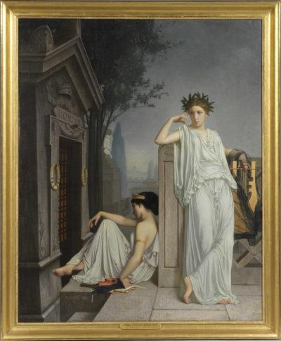 Les muses de la tragédie et de la poésie devant la tombe de Rachel - Patrimoine Charles-André COLONNA WALEWSKI, en ligne directe de Napoléon