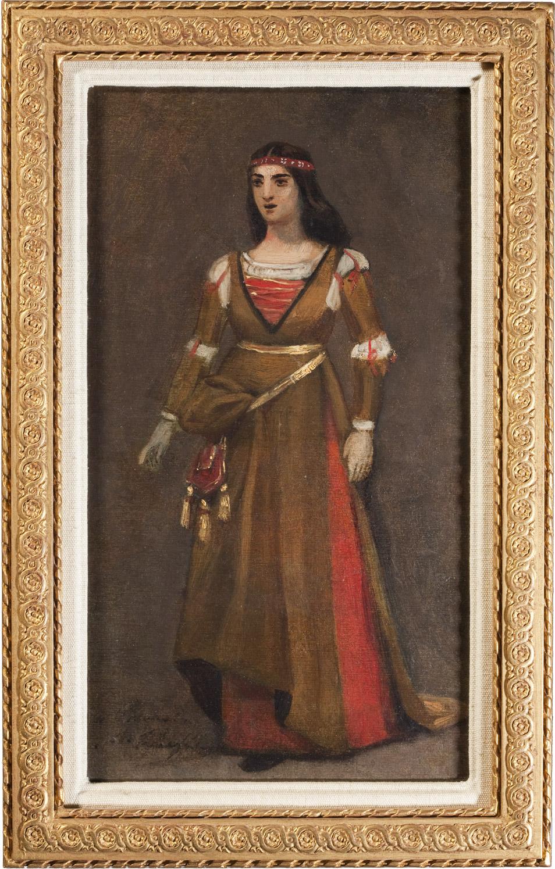 Portrait de Rachel dans le rôle de Dona Isabelle par Scheffer - Patrimoine Charles-André COLONNA WALEWSKI, en ligne directe de Napoléon