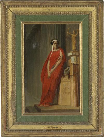 Rachel dans le rôle de Phèdre, par Gérôme, et sa caricature - Patrimoine Charles-André COLONNA WALEWSKI, en ligne directe de Napoléon