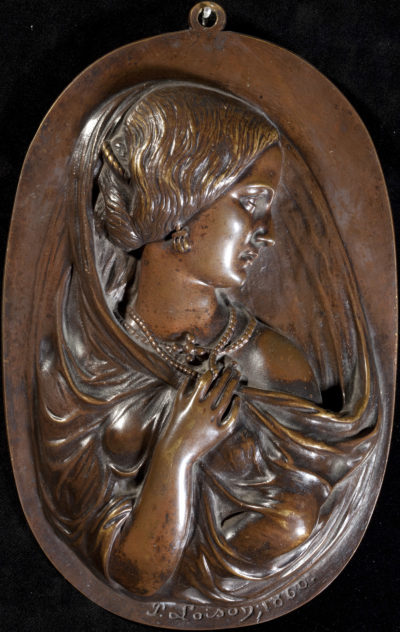 Médaillon de Rachel par Loison - Patrimoine Charles-André COLONNA WALEWSKI, en ligne directe de Napoléon