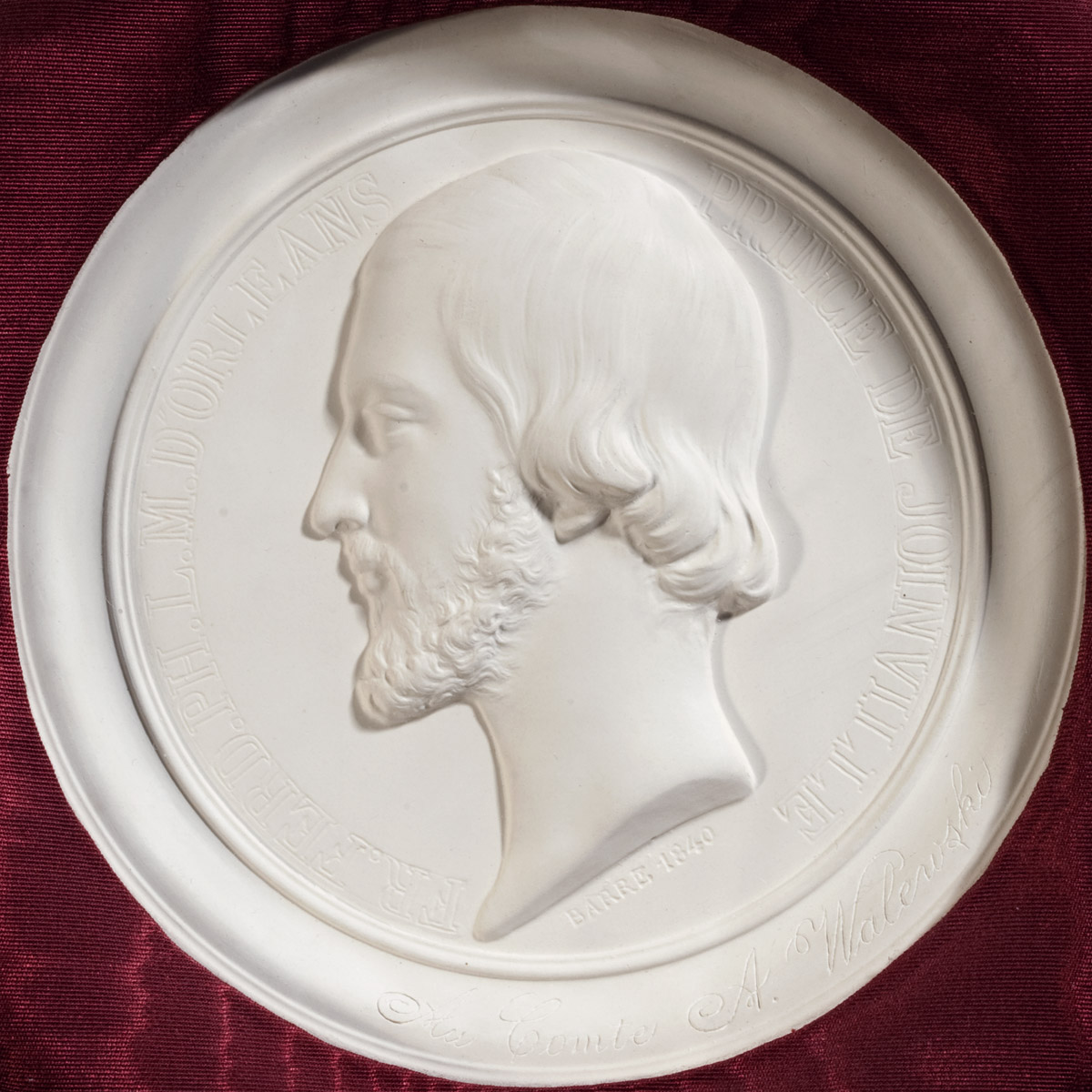 Deux médaillons par Barre dédicacés au comte Walewski - Patrimoine Charles-André COLONNA WALEWSKI, en ligne directe de Napoléon