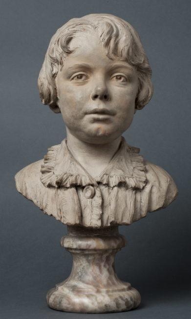Buste d'Alexandre II Walewski enfant par F. Garcia - Patrimoine Charles-André COLONNA WALEWSKI, en ligne directe de Napoléon