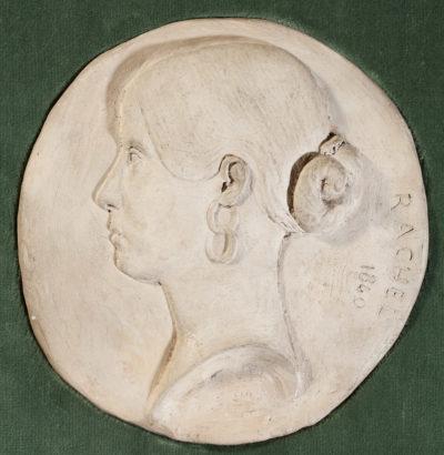 Profil de Rachel, médaillons par Baron - Patrimoine Charles-André COLONNA WALEWSKI, en ligne directe de Napoléon