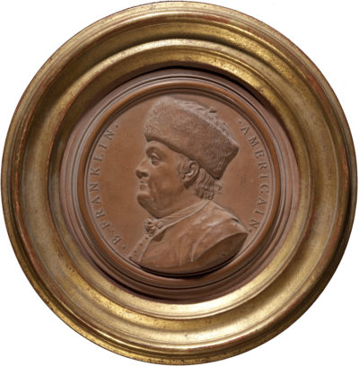 Médaillon : B. Franklin Américain - Patrimoine Charles-André COLONNA WALEWSKI, en ligne directe de Napoléon