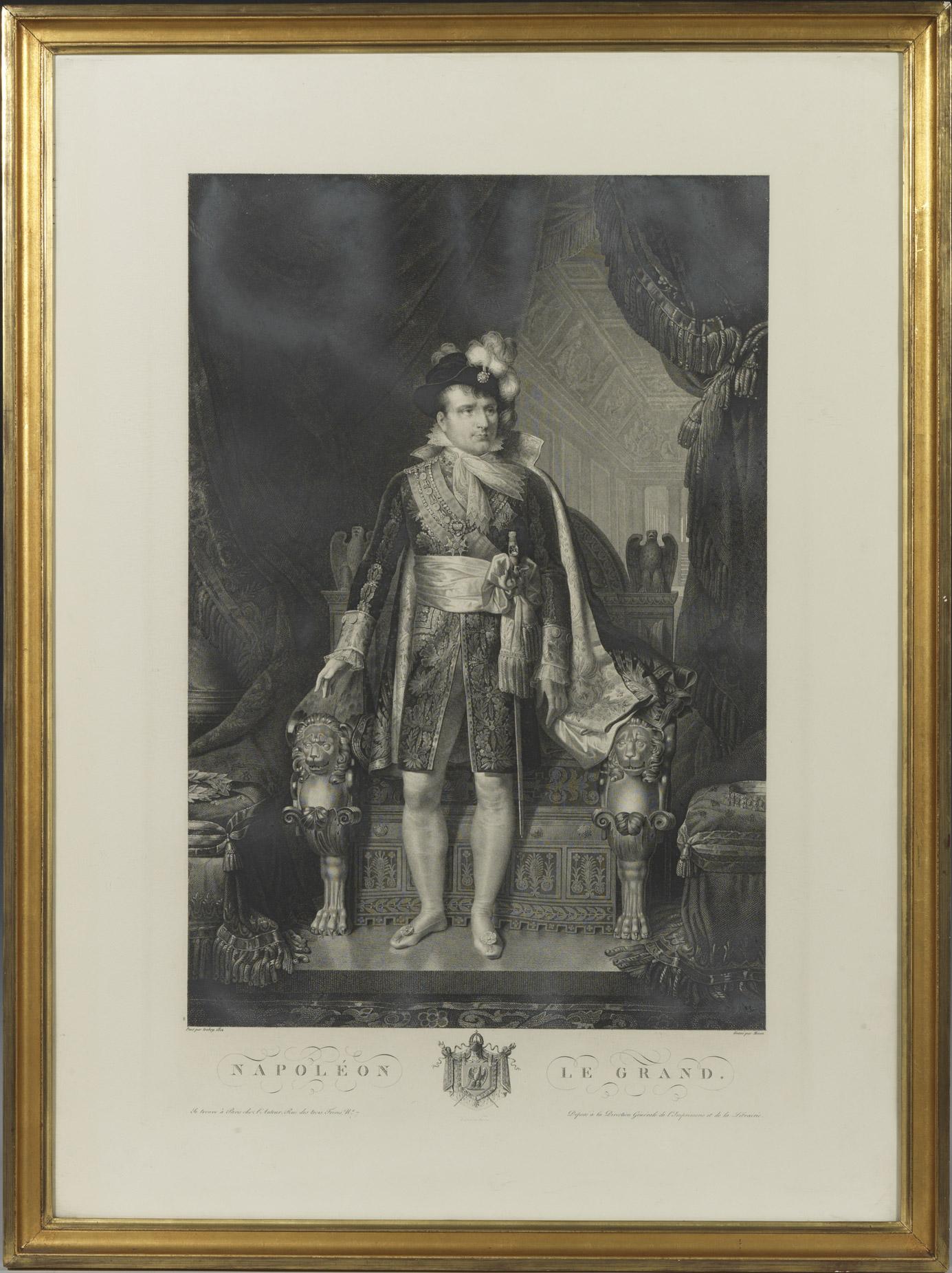 Gravure : Napoléon d'après Isabey - Patrimoine Charles-André COLONNA WALEWSKI, en ligne directe de Napoléon