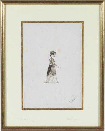 Dessin de Rachel par Mérimée - Patrimoine Charles-André COLONNA WALEWSKI, en ligne directe de Napoléon