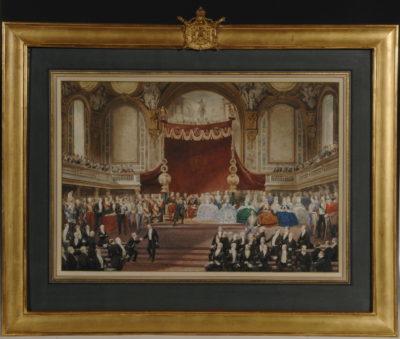 Remise des récompenses par Napoléon III aux lauréats français - Patrimoine Charles-André COLONNA WALEWSKI, en ligne directe de Napoléon
