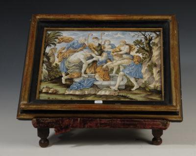 Scène biblique, faience décorée, Castelli des Abbruzes, Italie - Patrimoine Charles-André COLONNA WALEWSKI, en ligne directe de Napoléon