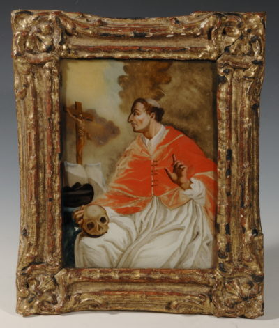 Tableau, Saint Ignace de Loyola assis - Patrimoine Charles-André COLONNA WALEWSKI, en ligne directe de Napoléon