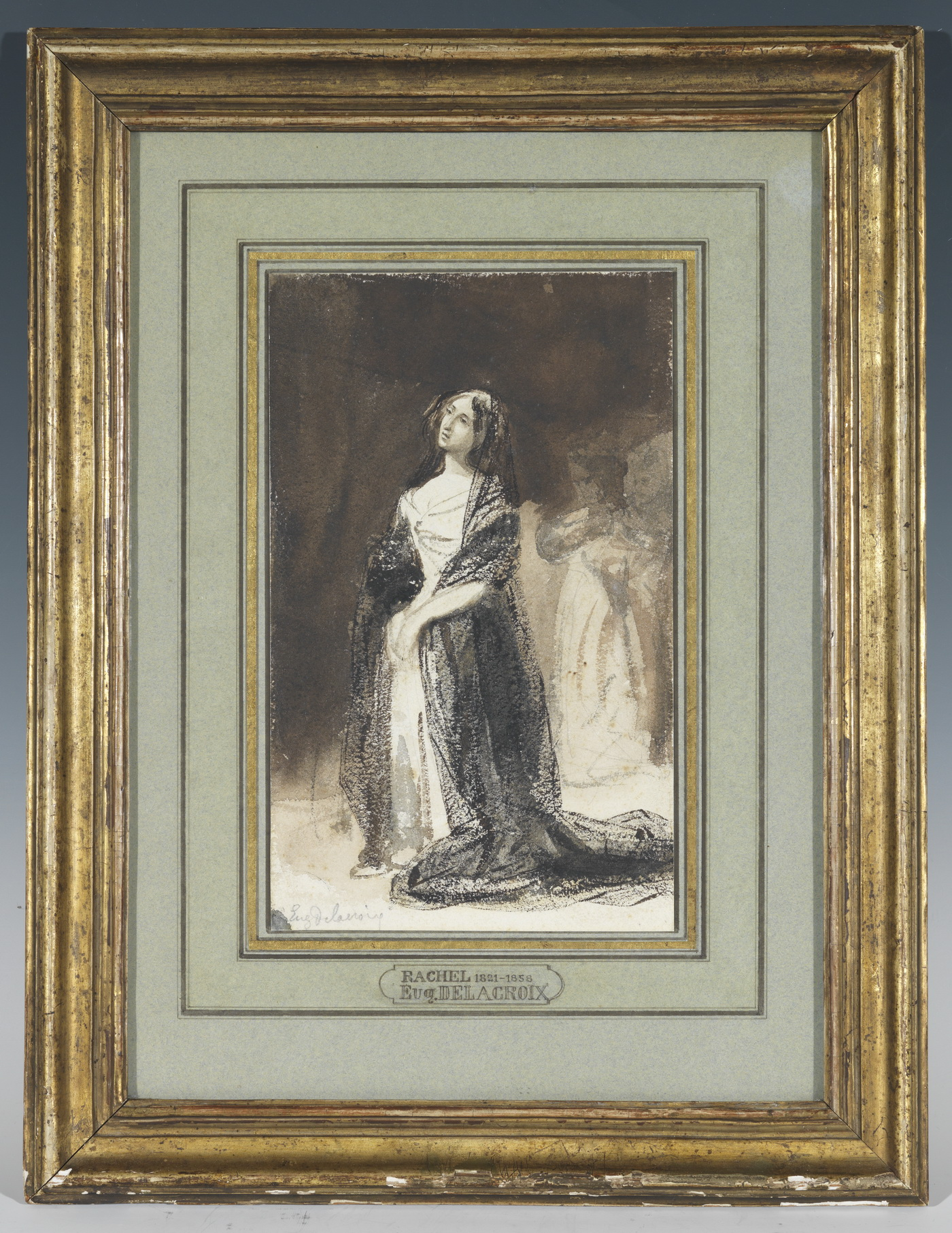 Rachel par Eugène Delacroix - Patrimoine Charles-André COLONNA WALEWSKI, en ligne directe de Napoléon