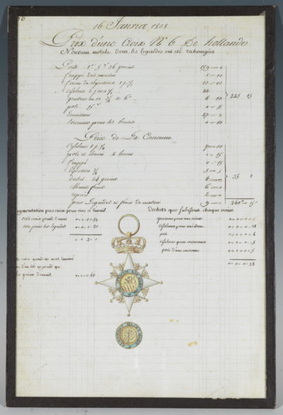 Cordon de Hollande - Patrimoine Charles-André COLONNA WALEWSKI, en ligne directe de Napoléon