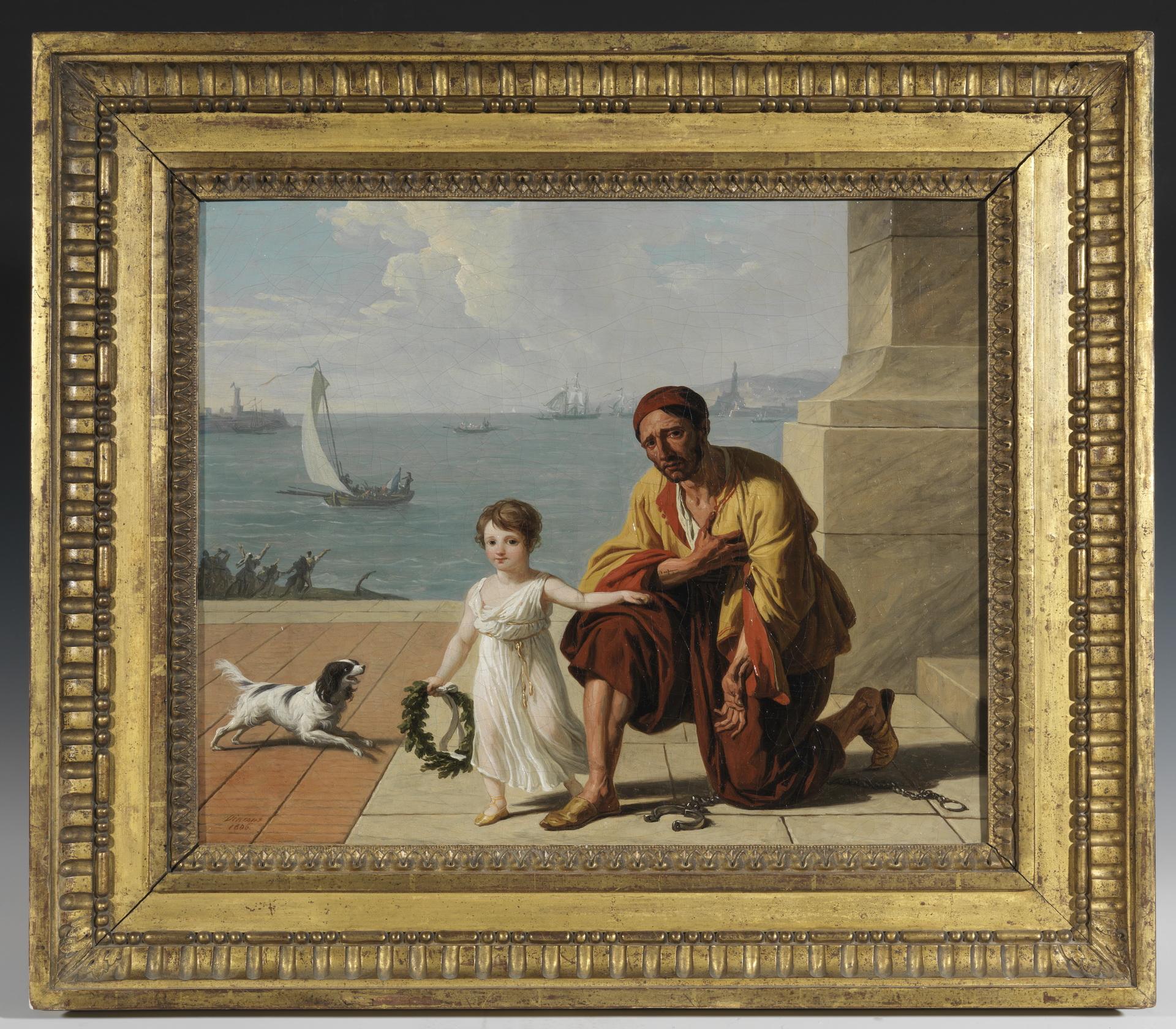 Allégorie de la libération des esclaves d'Alger par Jérôme Bonaparte, 1806 - Patrimoine Charles-André COLONNA WALEWSKI, en ligne directe de Napoléon
