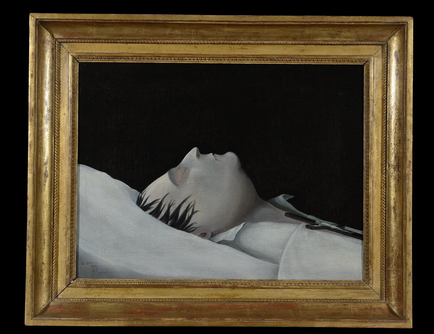 L'Empereur Napoléon sur son lit de mort - Patrimoine Charles-André COLONNA WALEWSKI, en ligne directe de Napoléon