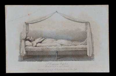 L'Empereur Napoléon étendu sur son lit de camp d'Austerlitz - Patrimoine Charles-André COLONNA WALEWSKI, en ligne directe de Napoléon