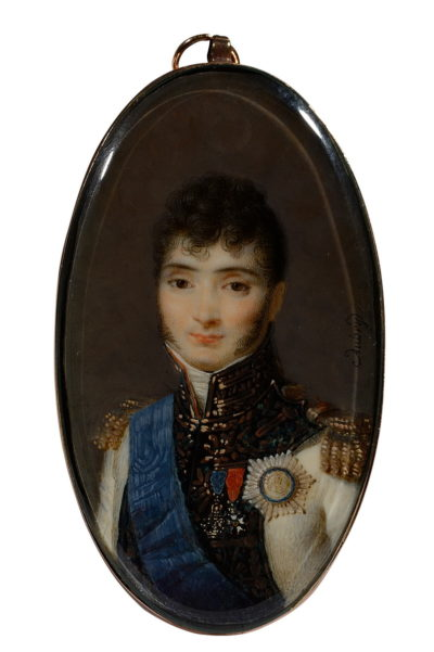 Miniature, Portrait de Jerome Bonaparte Roi de Westphalie par Aubry Louis Ferdinand. - Patrimoine Charles-André COLONNA WALEWSKI, en ligne directe de Napoléon