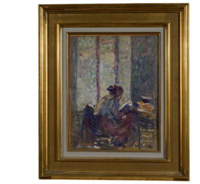 La lecture, N. THARKOFF - Patrimoine Charles-André COLONNA WALEWSKI, en ligne directe de Napoléon