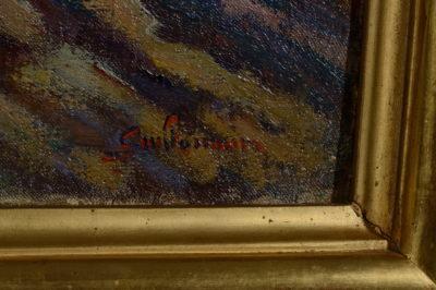 Voiliers à Saint Palais sur Mer par Armand Guillaumin - Patrimoine Charles-André COLONNA WALEWSKI, en ligne directe de Napoléon