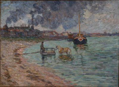Bord de Seine à Charenton par Armand Guillaumin - Patrimoine Charles-André COLONNA WALEWSKI, en ligne directe de Napoléon
