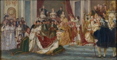 Couronnement de Napoleon Miniature - Patrimoine Charles-André COLONNA WALEWSKI, en ligne directe de Napoléon