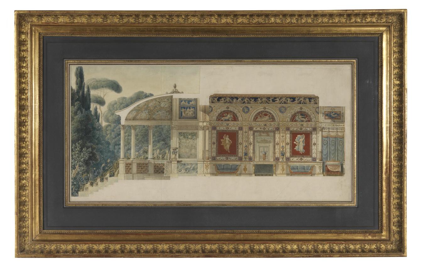 Projet de décoration intérieure pour Jérôme Bonaparte - Patrimoine Charles-André COLONNA WALEWSKI, en ligne directe de Napoléon