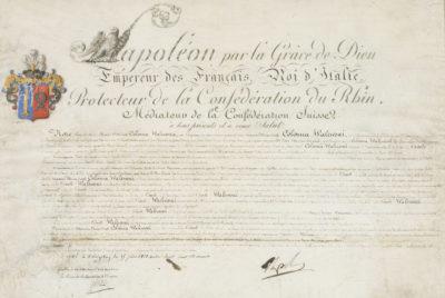 Lettres patentes, signées de Napoléon - Patrimoine Charles-André COLONNA WALEWSKI, en ligne directe de Napoléon