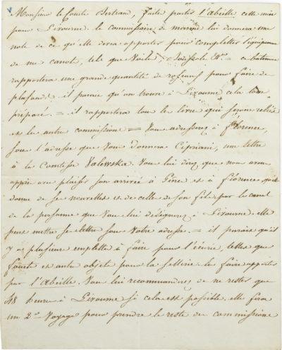 Lettre de Napoléon à Bertrand - Patrimoine Charles-André COLONNA WALEWSKI, en ligne directe de Napoléon