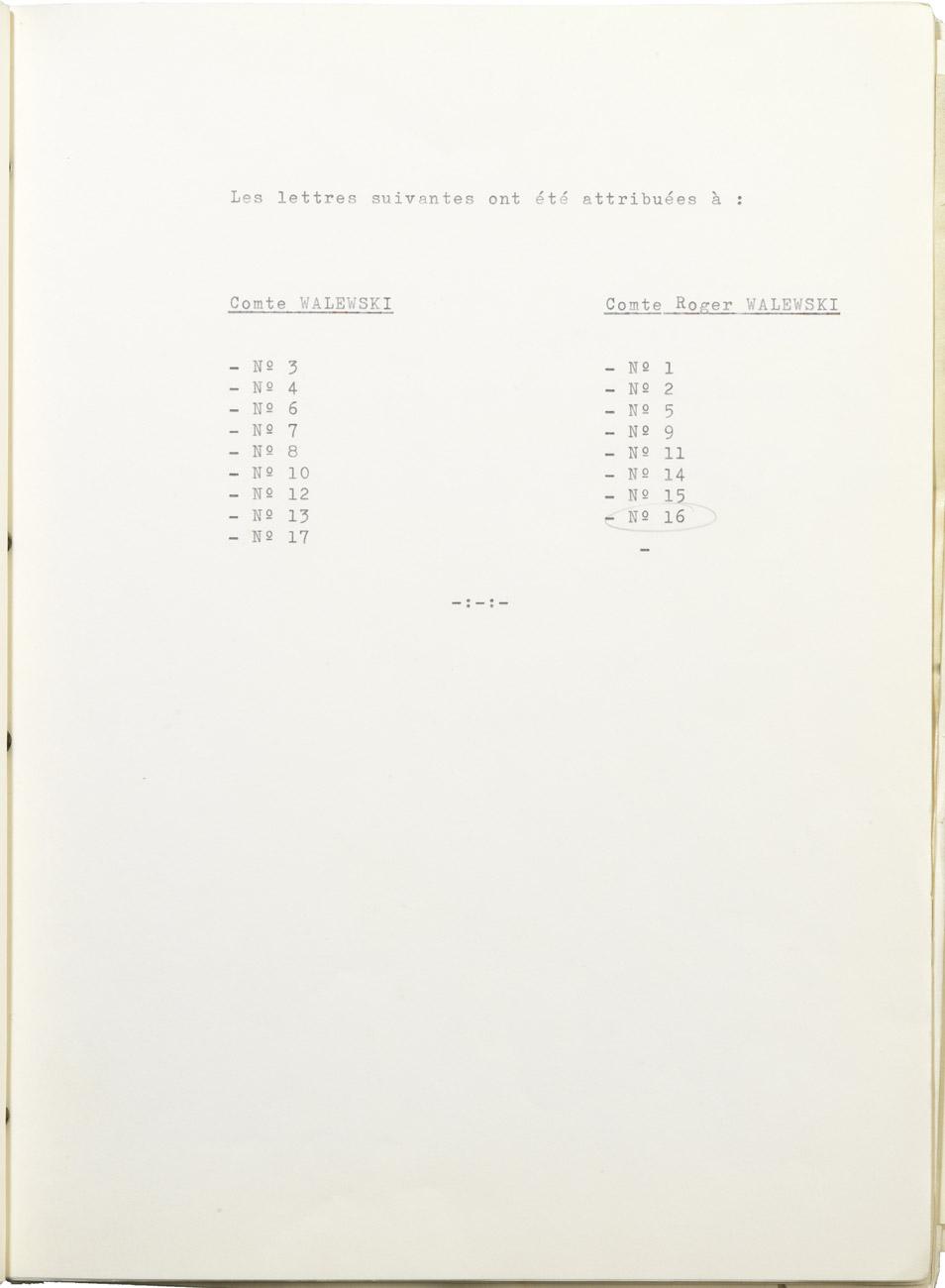 Partage de la correspondance de Napoléon et Marie Walewska - Patrimoine Charles-André COLONNA WALEWSKI, en ligne directe de Napoléon